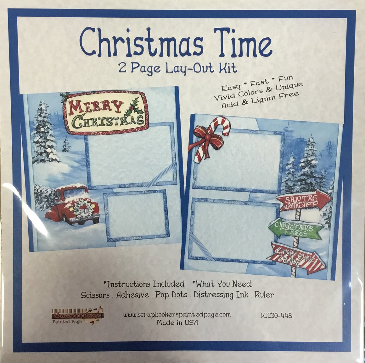 12x12 2 page layout kit Christmas Time