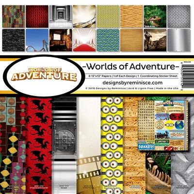 Designs by Reminisce- World of Adventure 12x12 collection kit