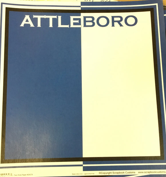 Attleboro High School Two-Tone Paper