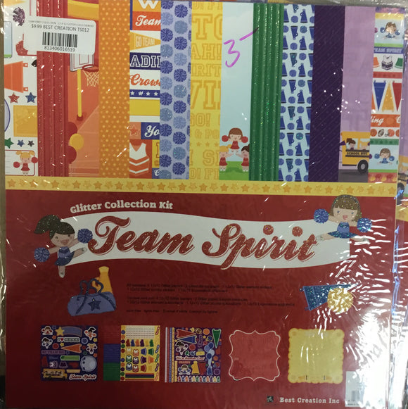 Best Creations Inc. Glitter collection kit- team spirit