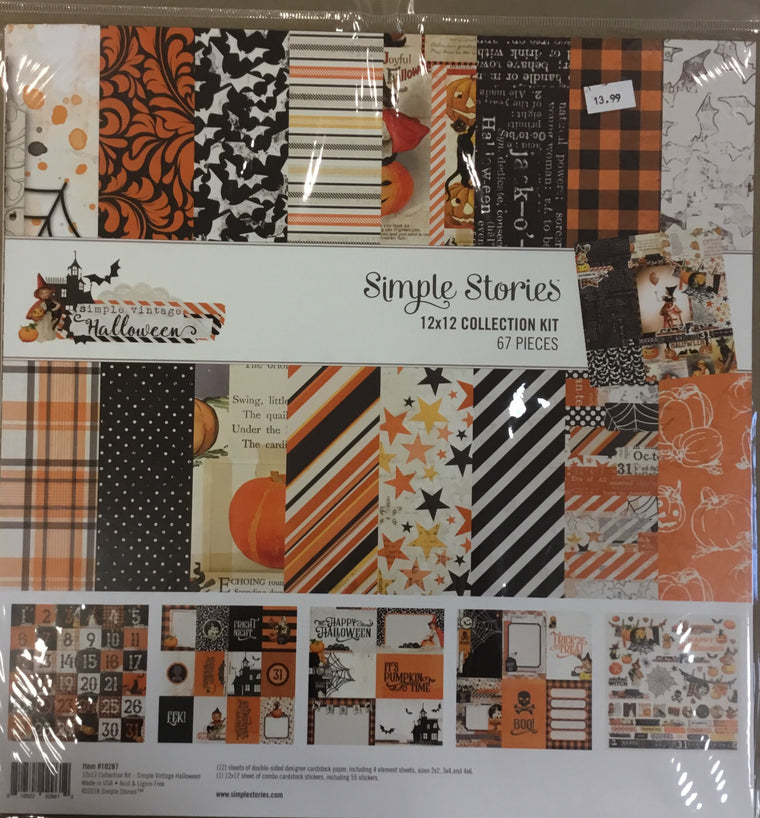 Simple stories 12x12 simple vintage Halloween kit