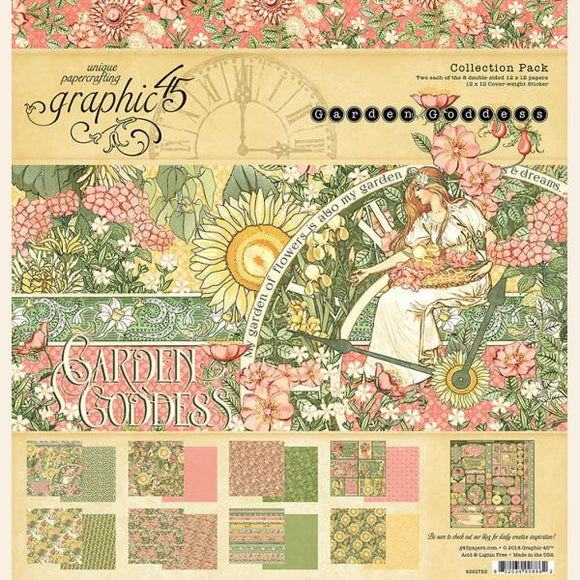 Graphic45 12x12 Garden Goddess collection kit