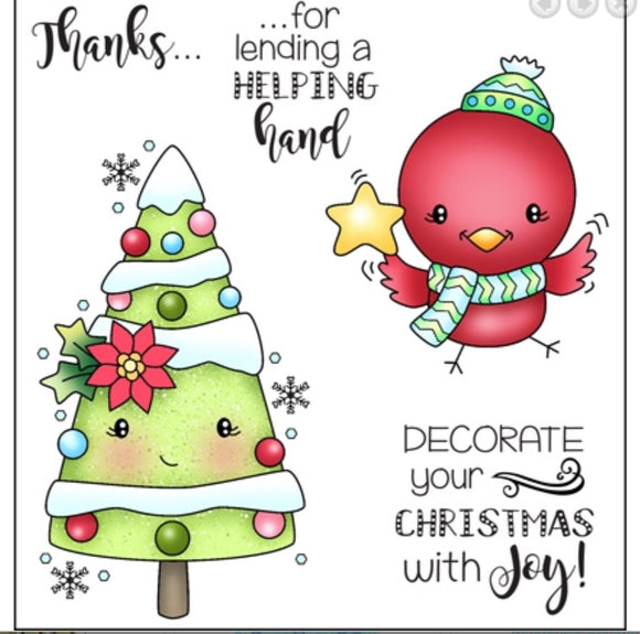 Darcie's Heart & Home clear stamps- Decorate Christmas