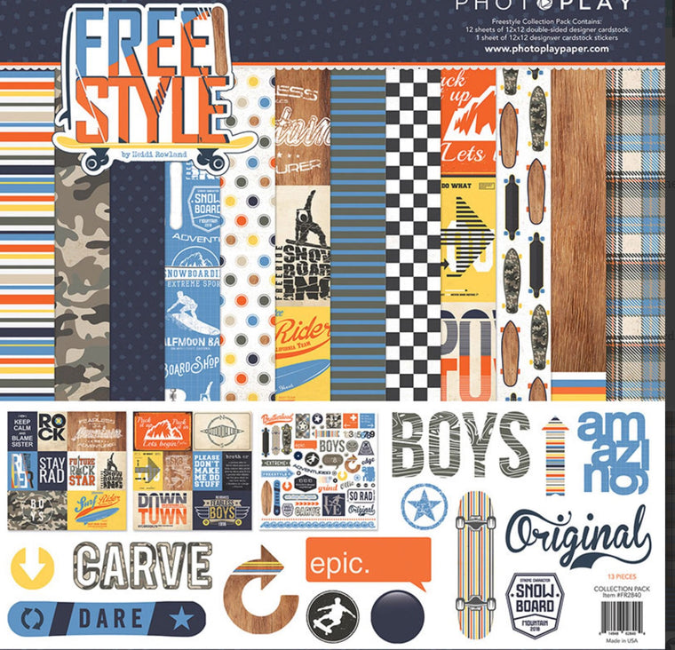 Photoplay 12x12 collection kit- Freestyle