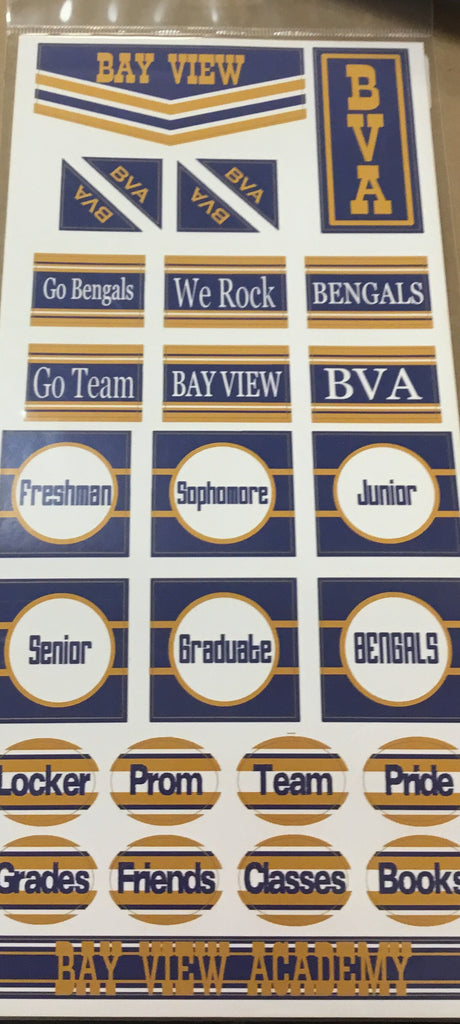 Bay view Academy chevron stickers