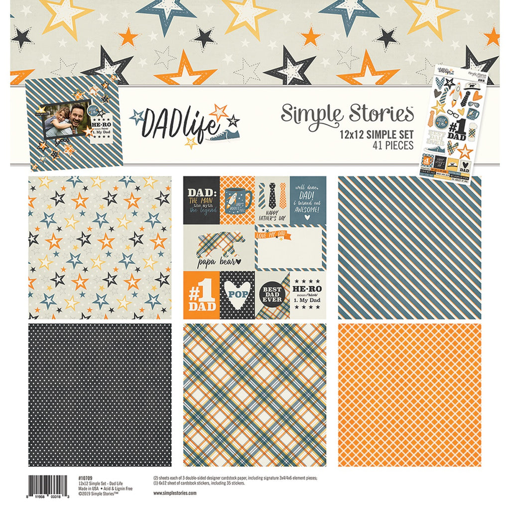 Simple stories 12x12 dad life collection kit