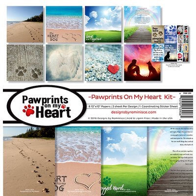 Designs by Reminisce- Pawprints on my heart 12x12 collection kit