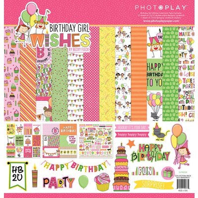 Photoplay 12x12 Birthday Girl collection kit