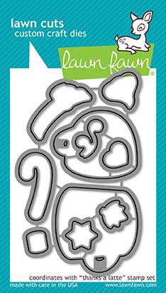 Lawn Fawn custom craft die- thanks a latte