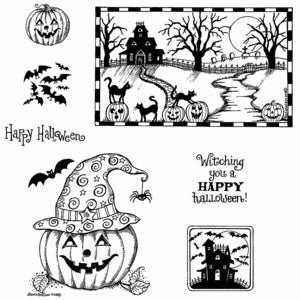Northwoods Rubber Stamps- Haunted House and Jack