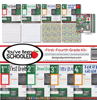 Designs by Reminisce- First-Fourth grade  12x12 collection kit