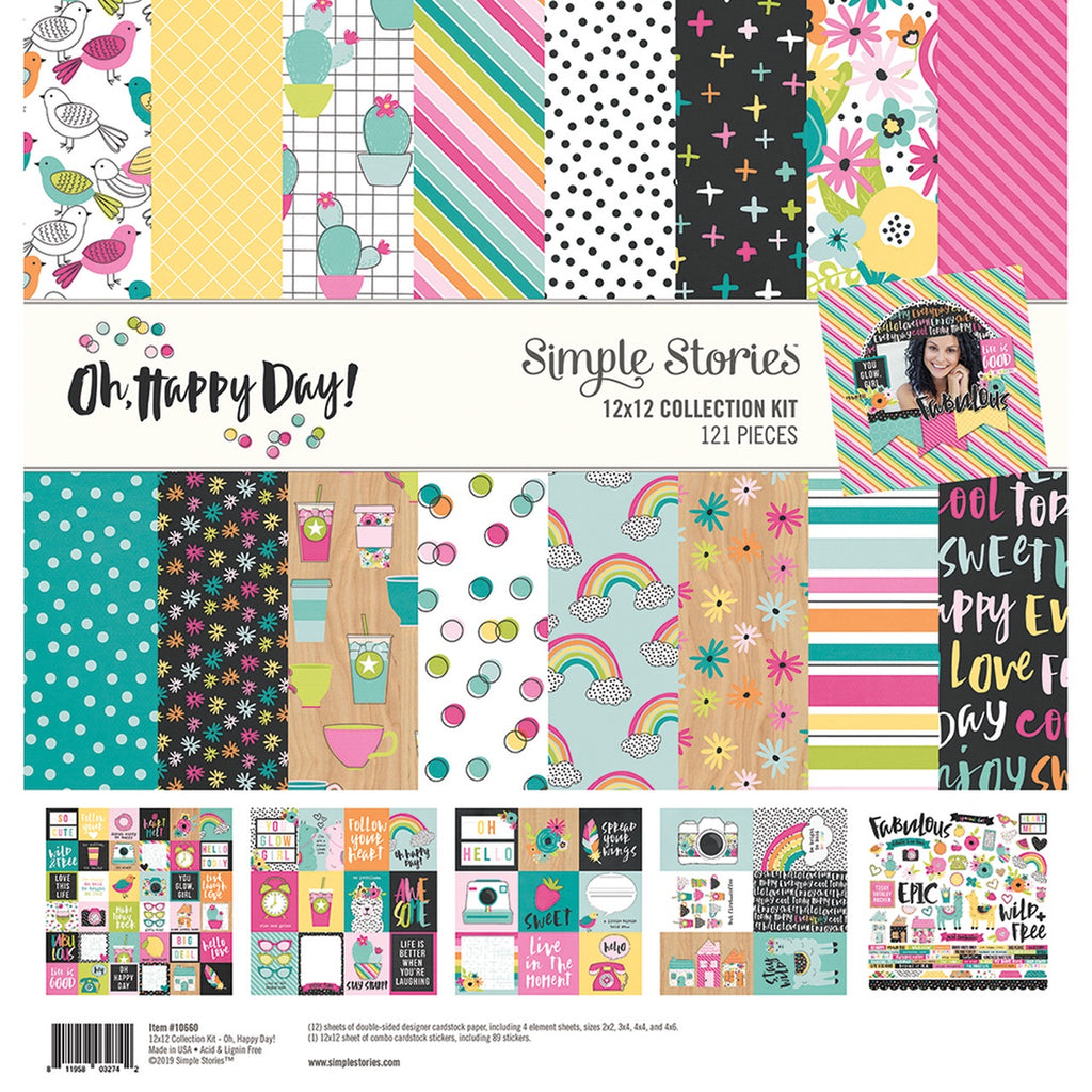 Simple stories 12x12 oh, happy day collection kit