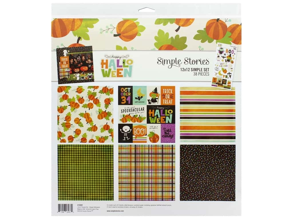 Simple stories 12x12 happy Halloween kit