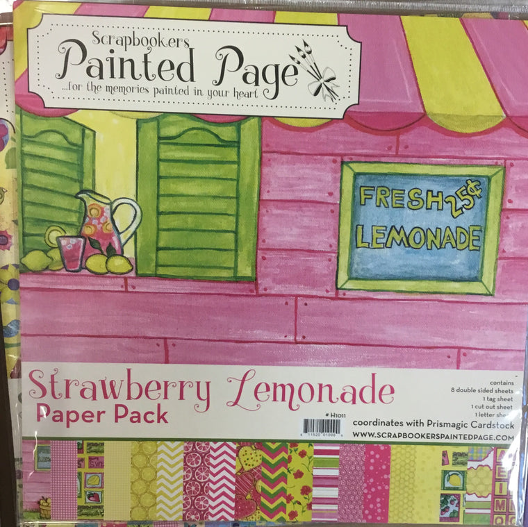 12x12 Strawberry Lemonade paper pack