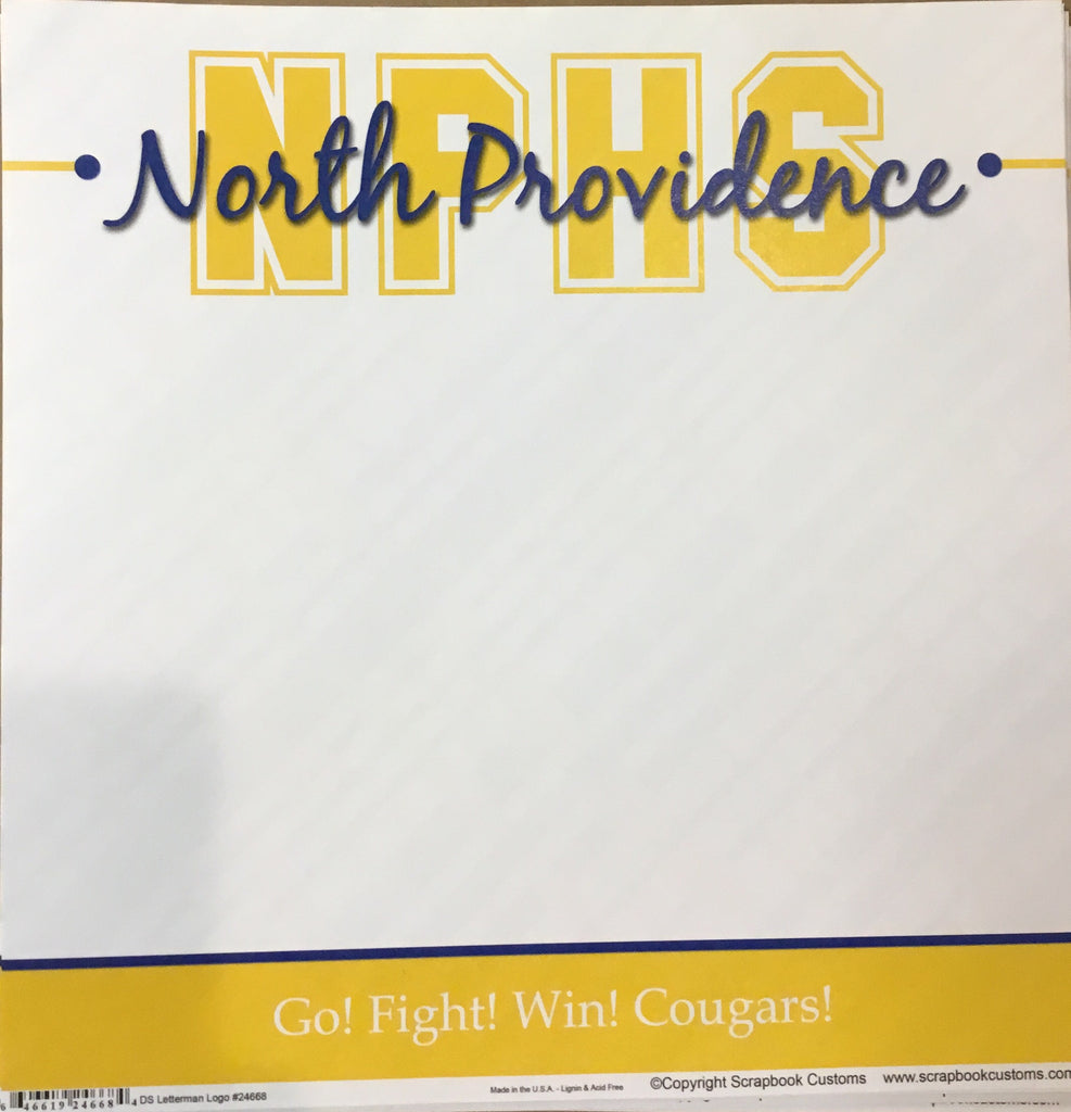 North Providence High School DS letterman logo