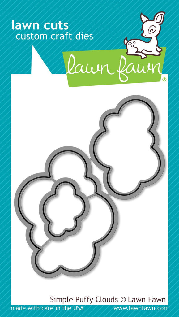 Lawn Fawn custom craft die- simple puffy clouds