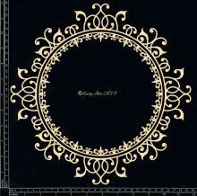 Dusty Attic Chipboard Ornate Circle #2