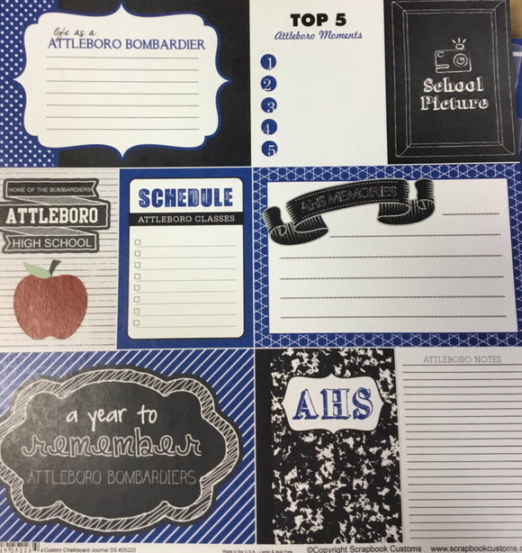 Attleboro High School custom chalkboard journal DS