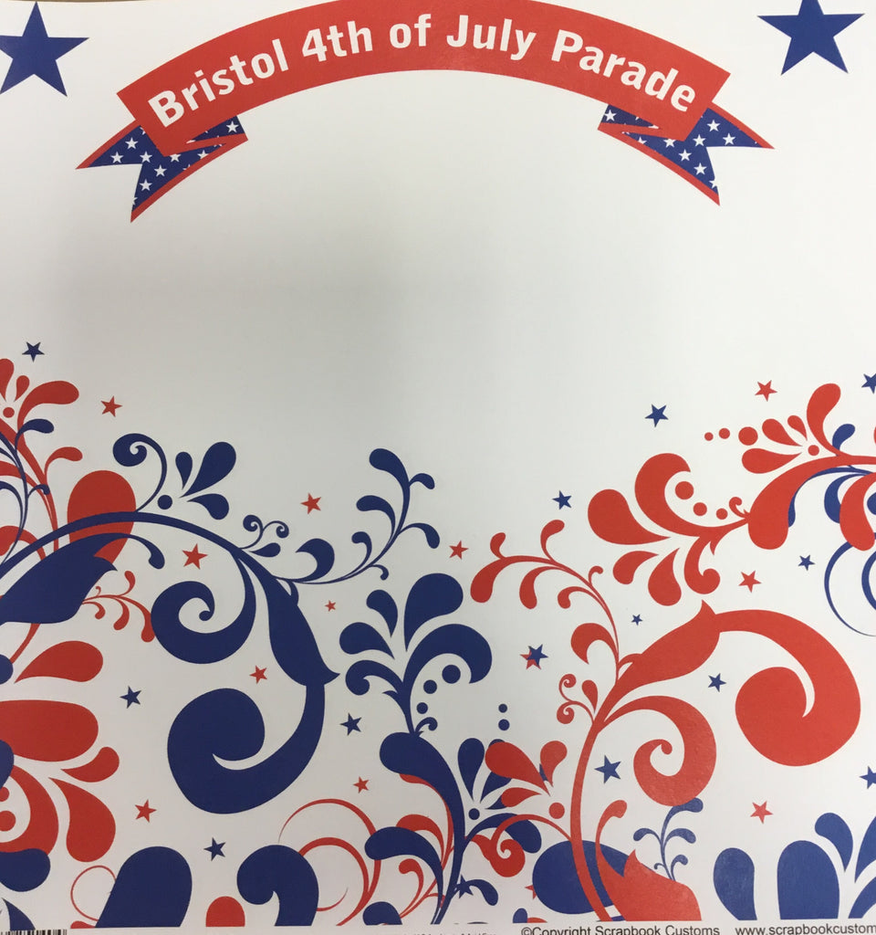 Bristol 4th of July parade swirl paper