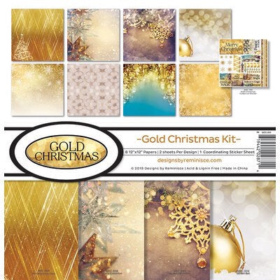 Gold Christmas 12x12 collection kit
