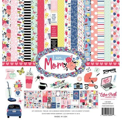 Echo park paper company 12x12 I am Mom collection kit