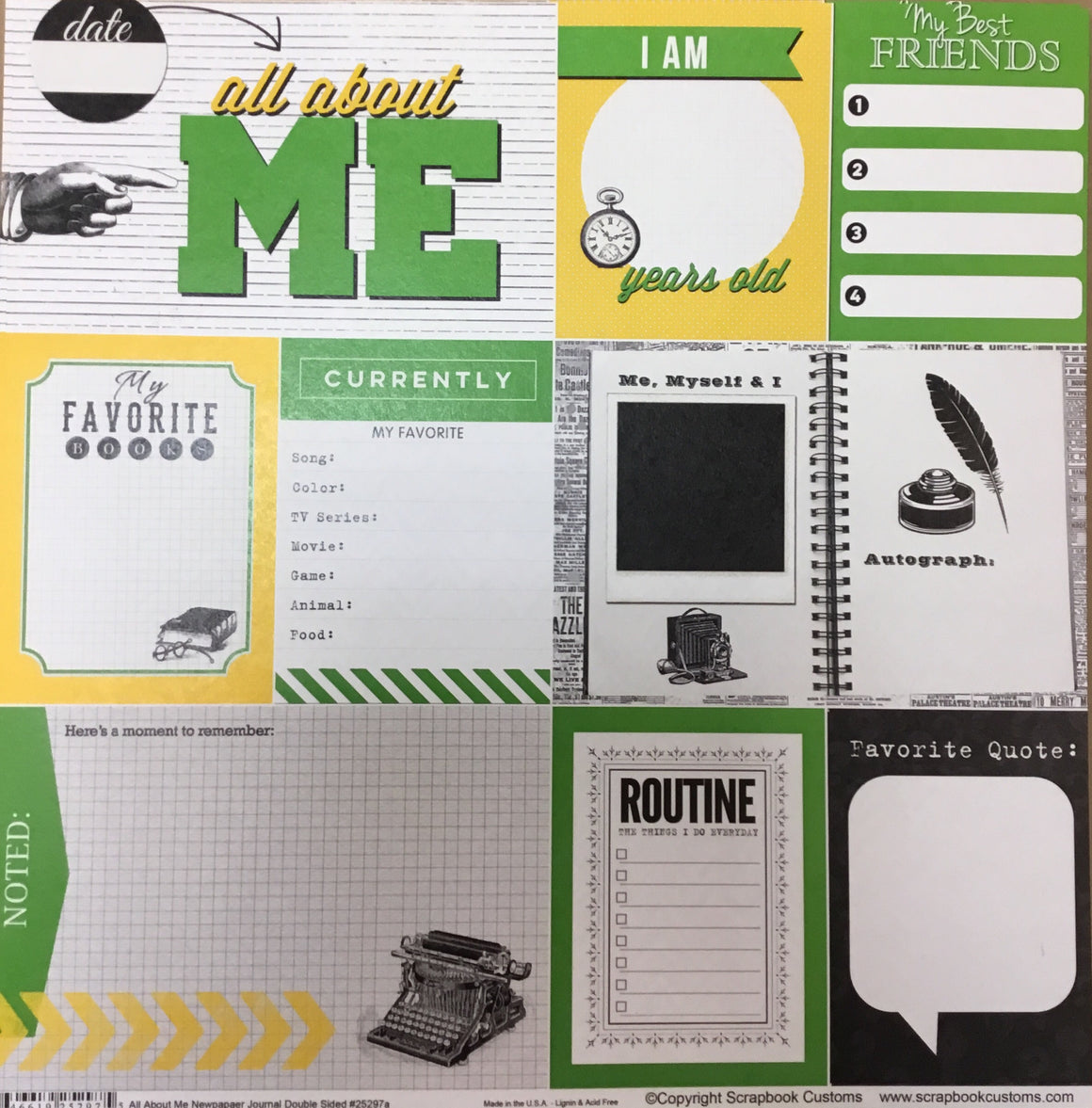 Anna McCabe School all about me newspaper journal DS paper