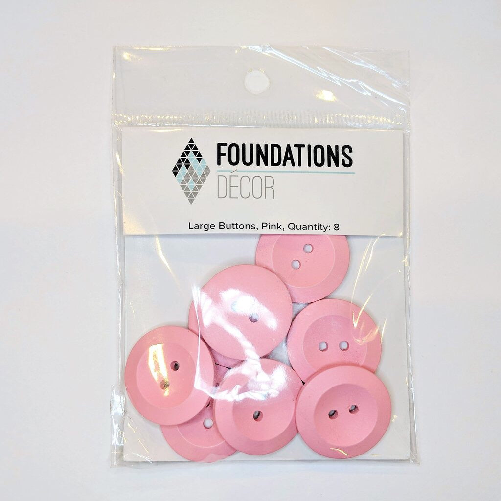 Foundations Decor Large Pink Buttons