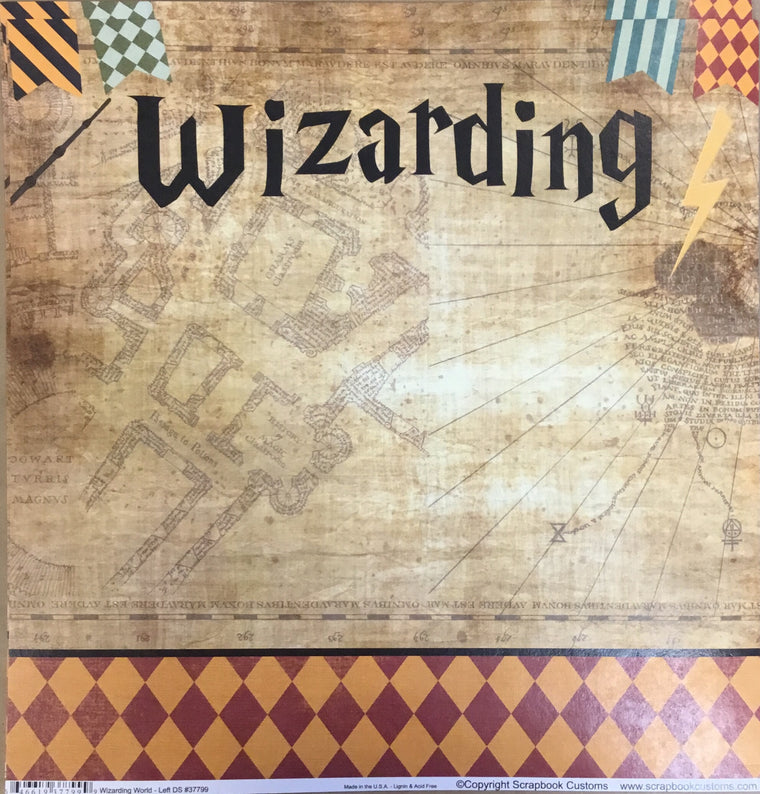 Wizarding World Left 12x12 single sheet