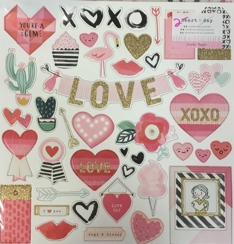 Crate Paper chipboard- Heart day