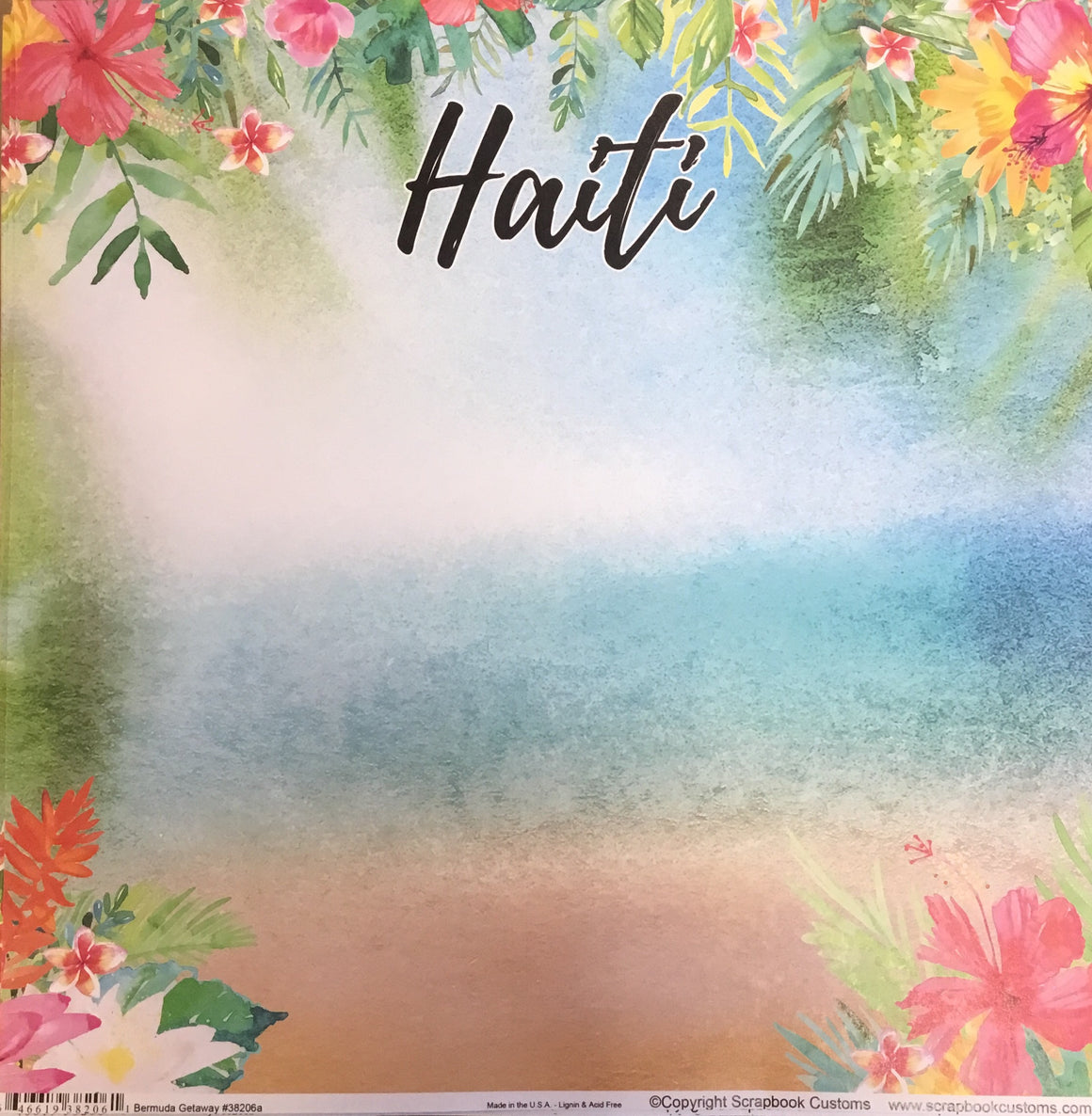 Haiti 12x12 single sheet