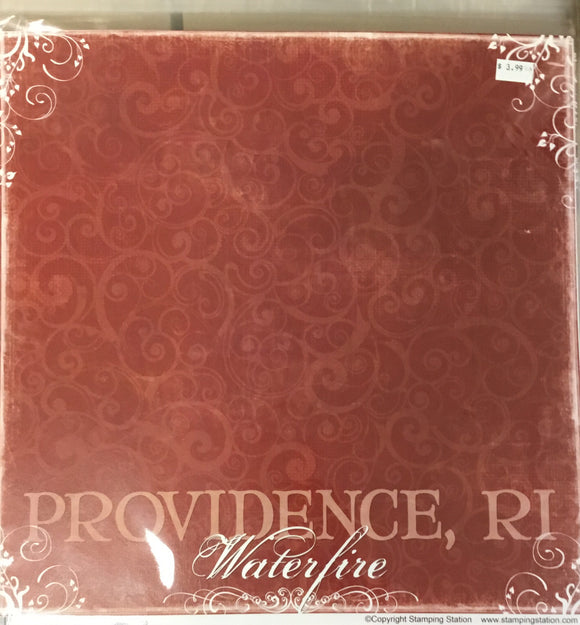 12x12 Providence water fire kit (2 sheets of paper)
