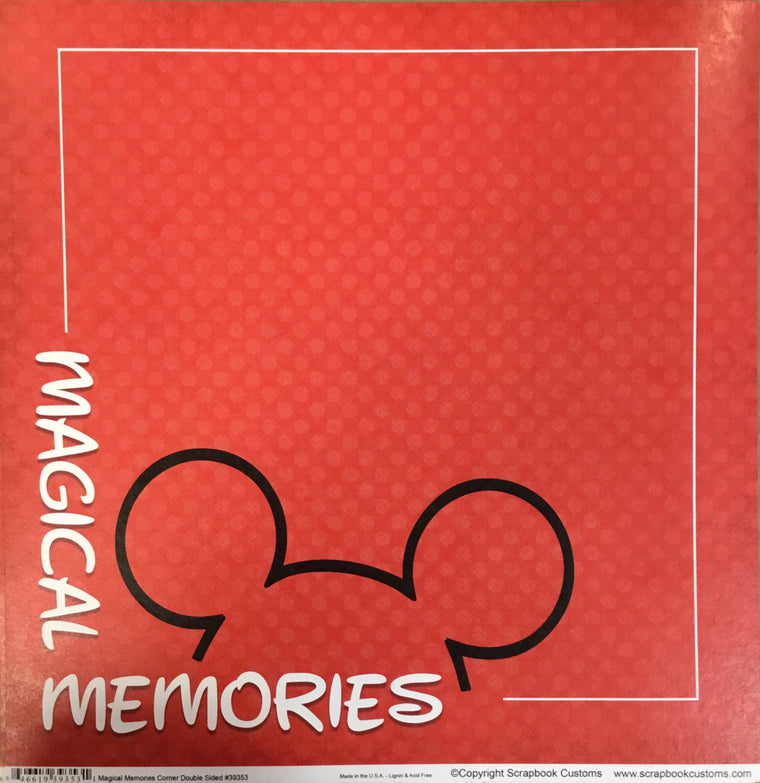 Magical Memories 12x12 single sheet