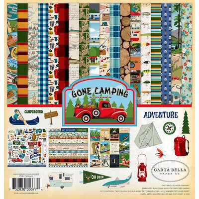 Carta Bella paper co. 12x12 gone camping collection kit