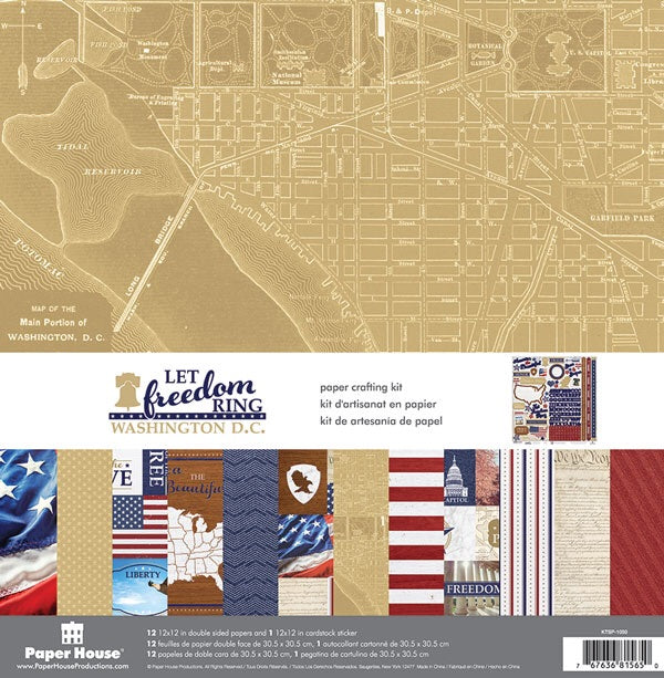 Paper House Productions- Let Freedom Ring Washington D.C. 12x12 collection kit