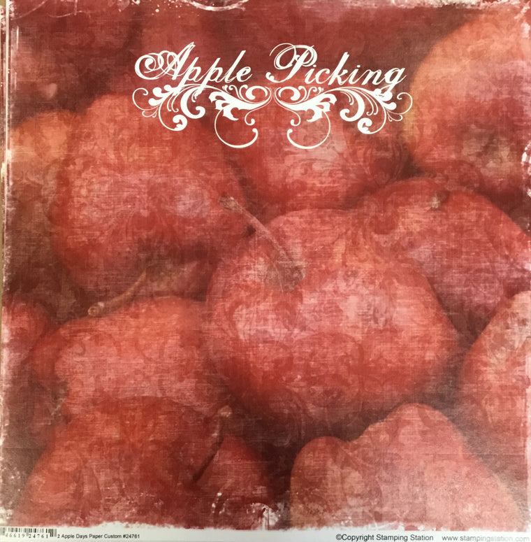 Apple Picking 12x12 single sheet
