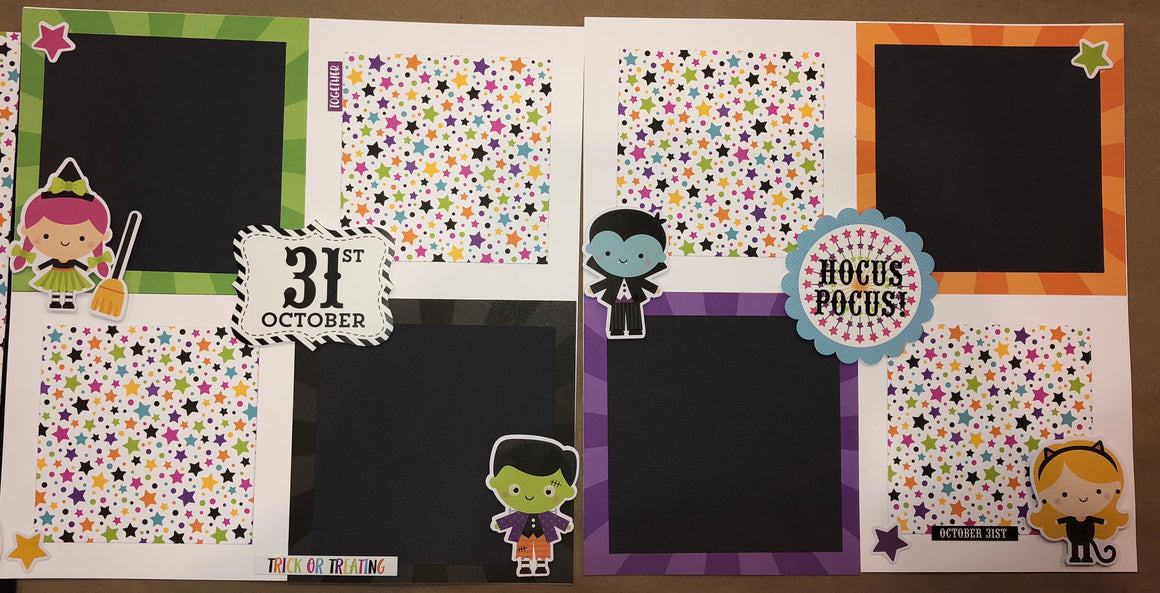 20 page 12x12 album class - Halloween  December 7  11-5 and 8th  11-3