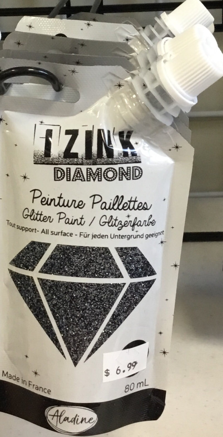Izink Diamond Glitter Paint- Midnight