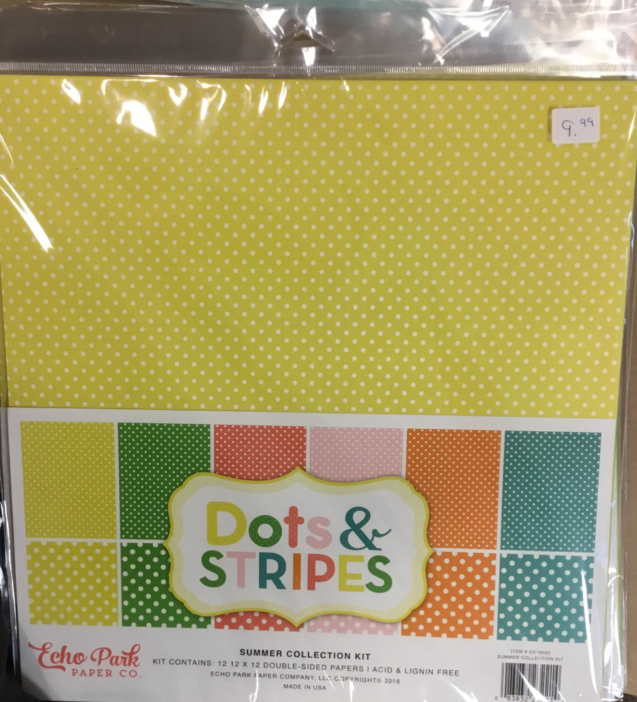 Echo park paper company 12x12 dots & stripes summer 2016 collection kit
