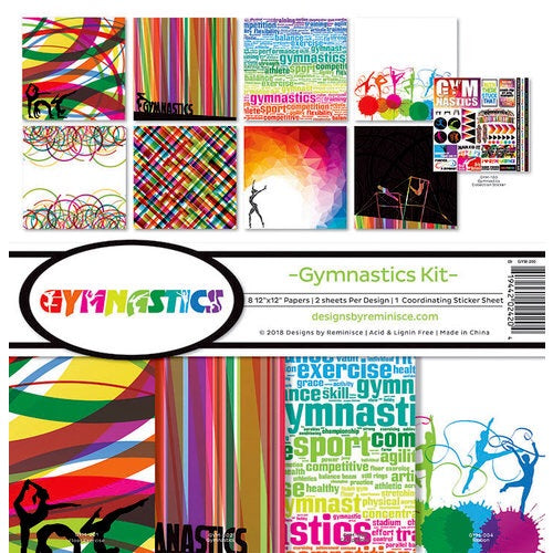 Designs by Reminisce- Gymnastics 12x12 collection kit