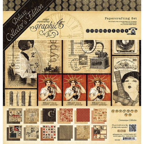Graphic45 Communique 12x12 Collection kit