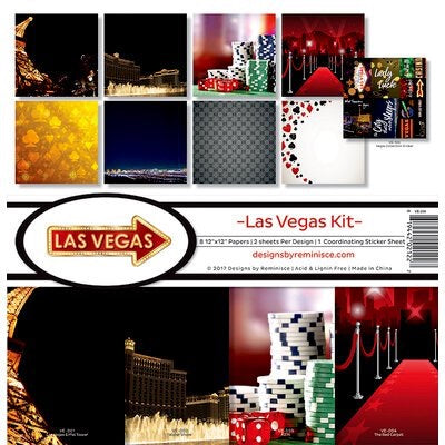 Designs by Reminisce- Las Vegas 12x12 collection kit