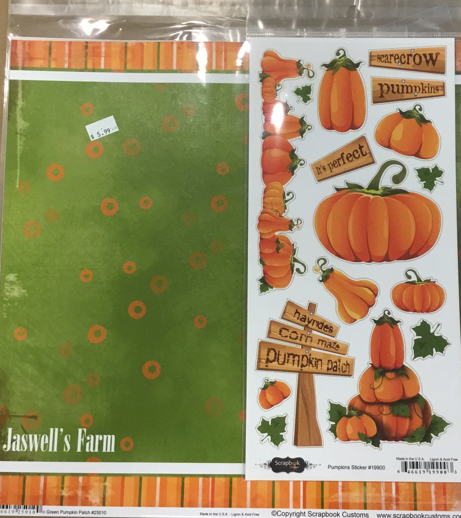 12x12 Jaswells farm kit w/ 1 custom paper, 2 companion papers, 1 custom sticker sheet