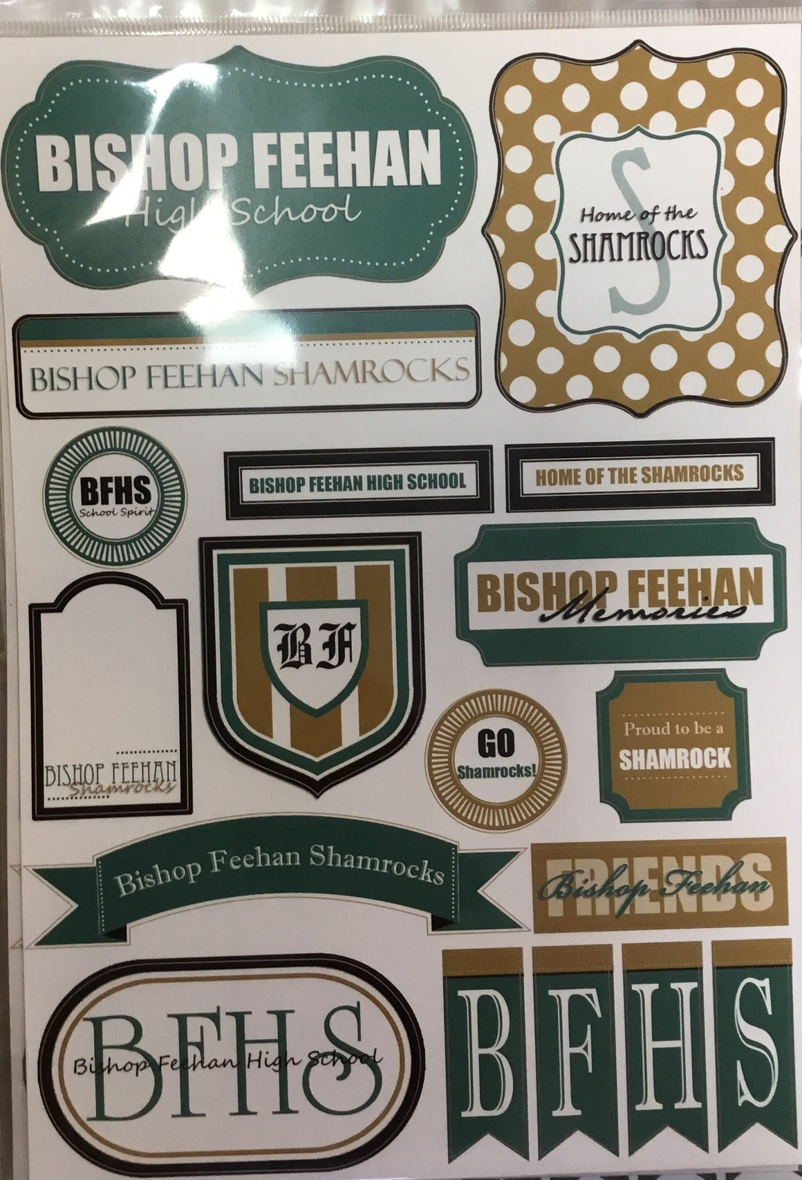 Bishop Feehan High School memories sticker sheet