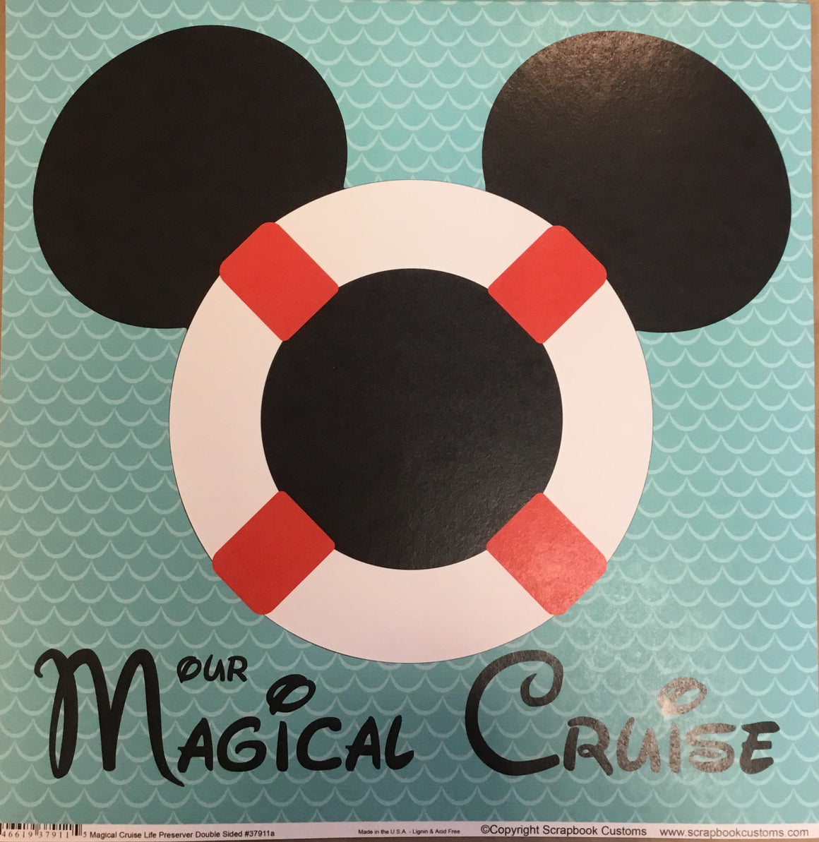 Magical Cruise 12x12 single sheet