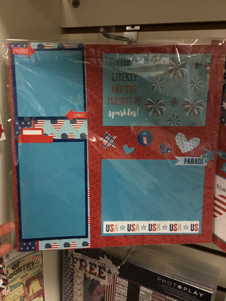 Bella BLVD 12x12 fireworks & freedom collection kit