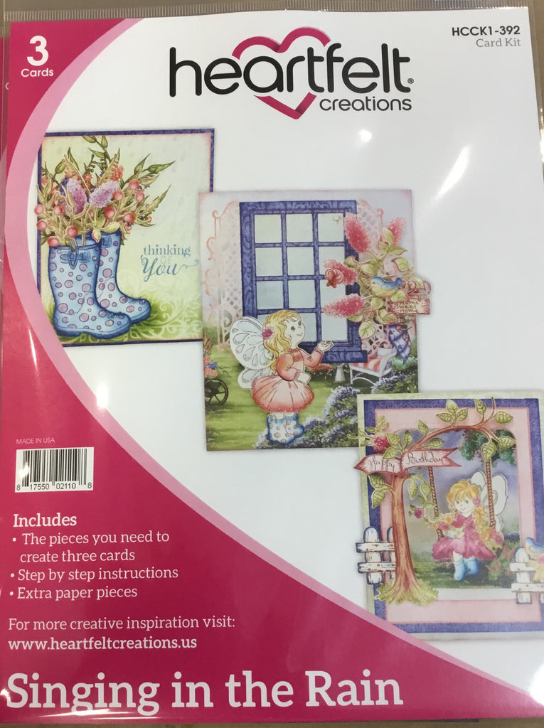 Heartfelt Creations Card kits Singing in the Rain