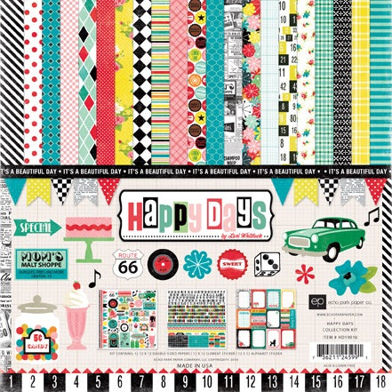 Echo Park Paper Co. - Happy Days 12x12 collection kit
