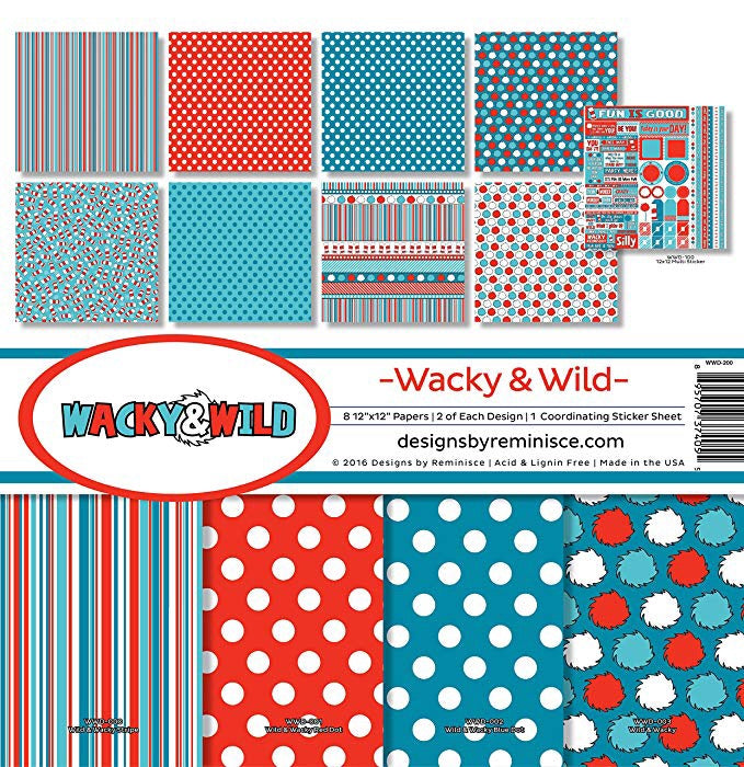 Designs by Reminisce- Wacky and Wild 12x12 collection kit