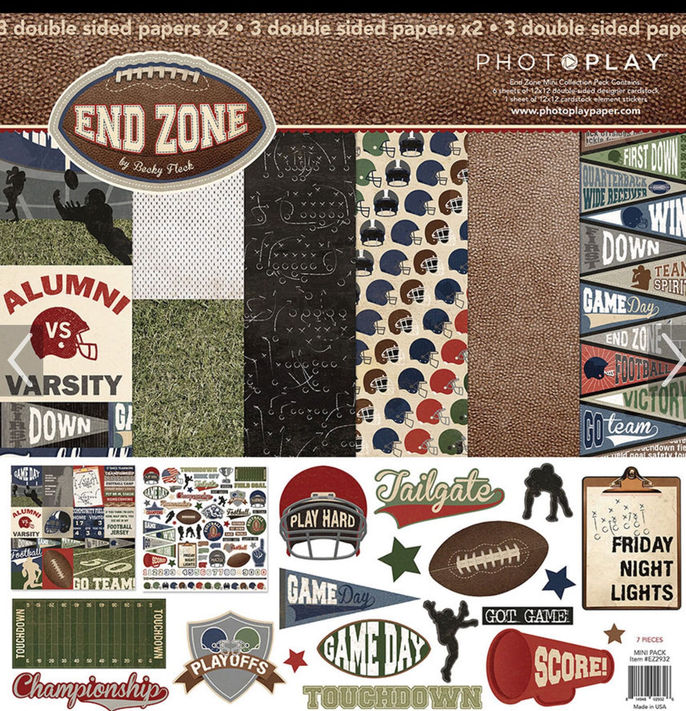Photoplay 12x12 football End zone collection kit