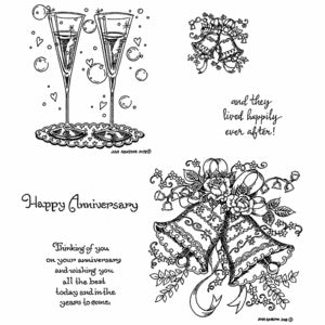 Northwoods Rubber Stamps- Wedding Bells & Flutes Cling set